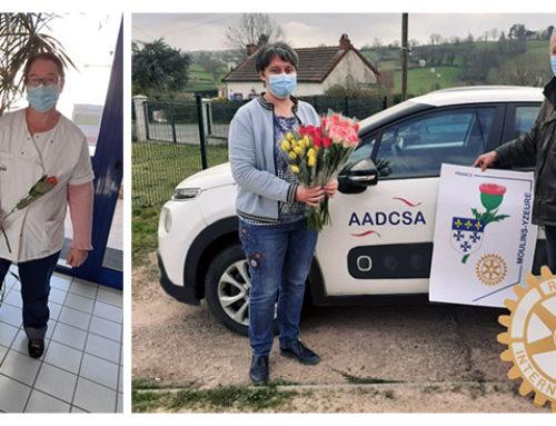 Les femmes sont mises à l'honneur par le ROTARY CLUB de Moulins/Yzeure et l'AADCSA 🌹
